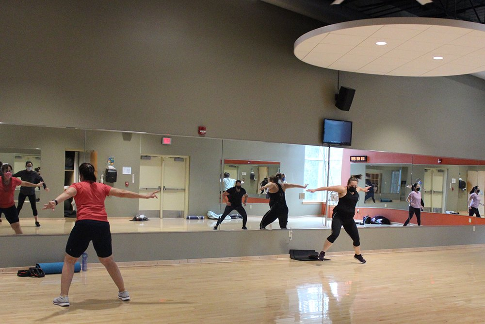 Tone group fitness class in Studio 2.